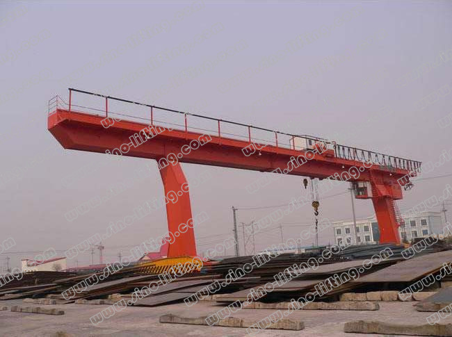 Single Main Beam Gantry Crane with Hook 5~30/5t