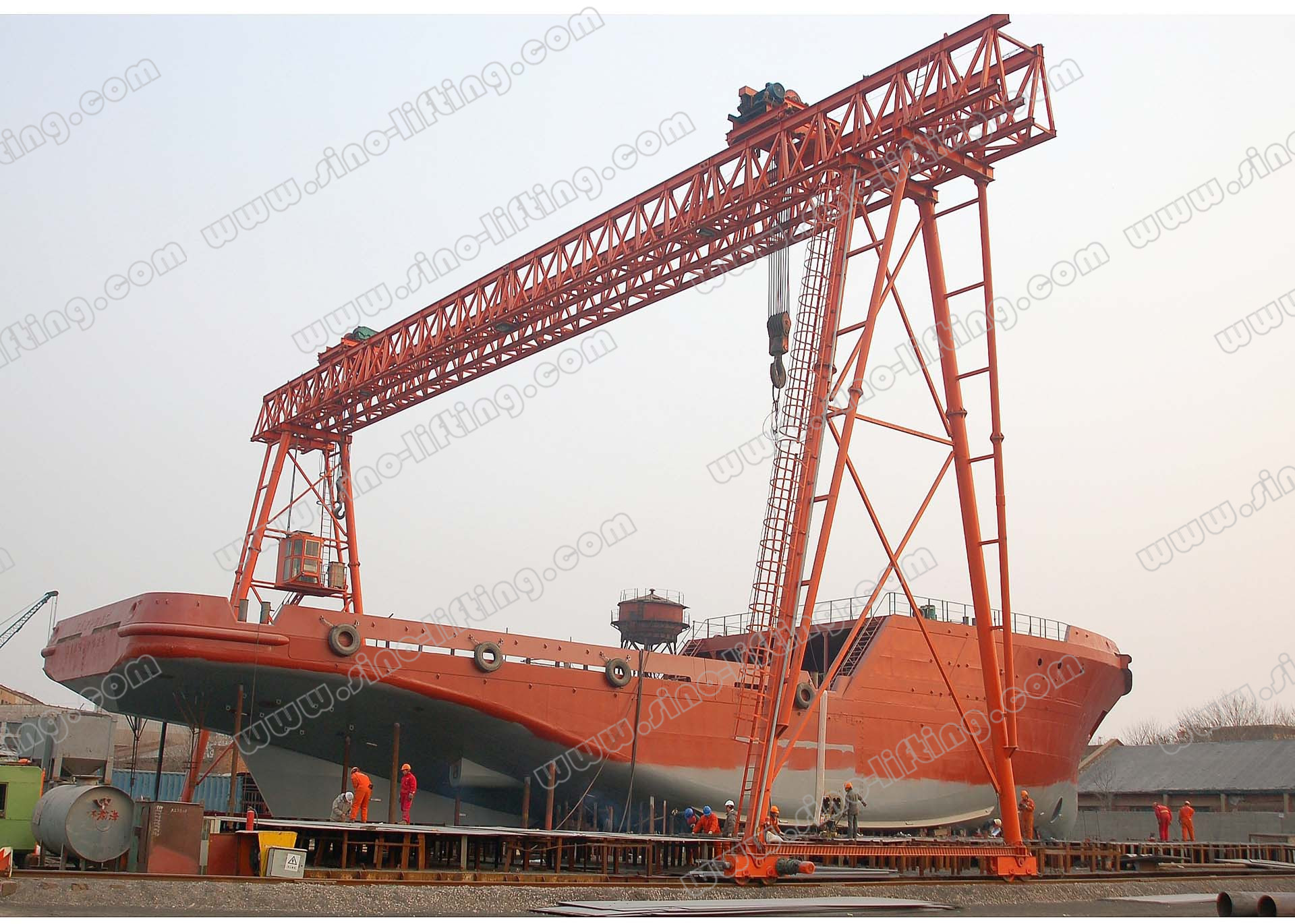 Double-Beam Shipbuilding Gantry Crane