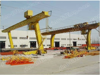 Single-Beam Gantry Crane with Grab 5~10 t